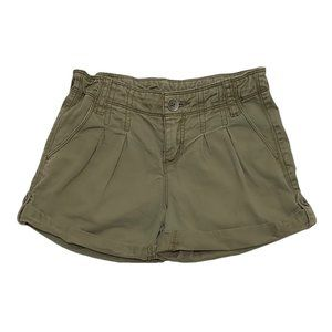 Gap Vintage Pleat High Waist Khaki Green Shorts